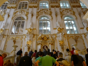 climbing up the main State Staircase in the Winter Palace