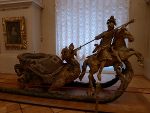 a winter sleigh on display at the Hermitage