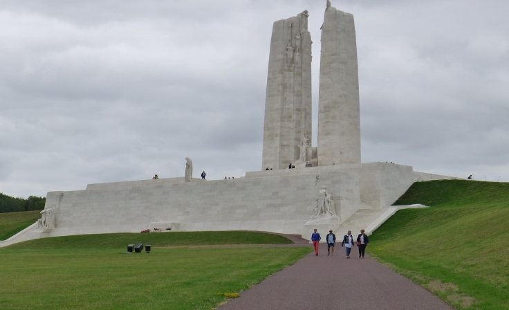 approaching Vimy memorial